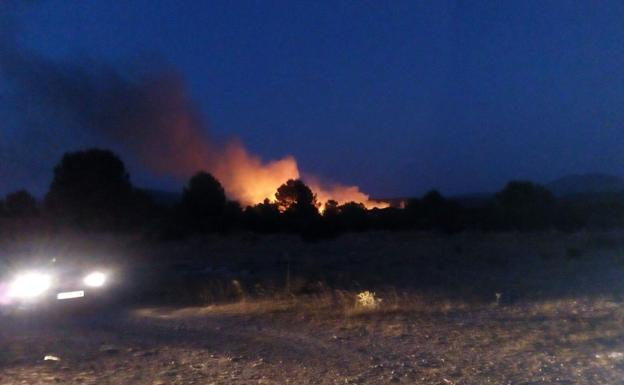 Uno de los focos detectados esta noche en Architana, en el término municipal de Moratalla.