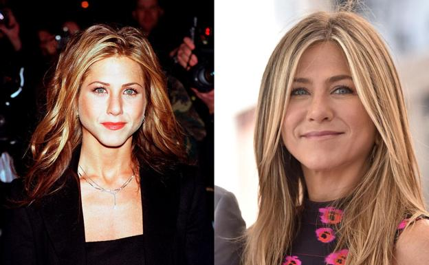 Jennifer Aniston, antes y después./