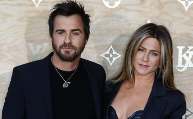Jennifer Aniston, con su marido.
