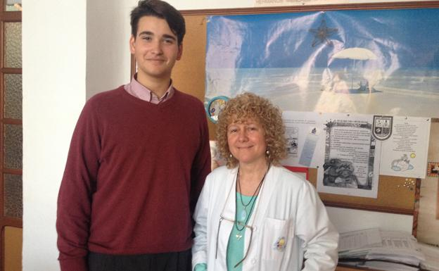Antonio López, member of ''Generación del 99'' with Encarnita, educational psychologist of our school/Generación del 99