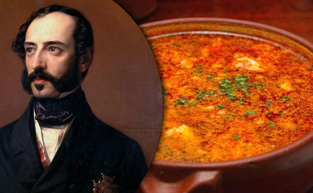 Retrato de Ventura de la Vega (Wikimedia Commons CC-PD) y sopas de ajo (Flickr, CC BY2.0)