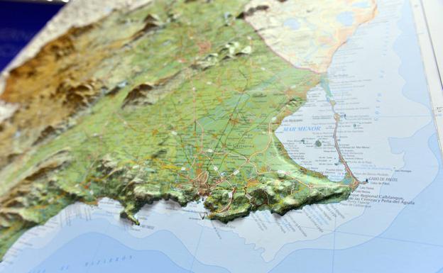 Mar Menor Mapa Fisico.El Nuevo Mapa En Relieve Del Ign Facilita La Lectura E