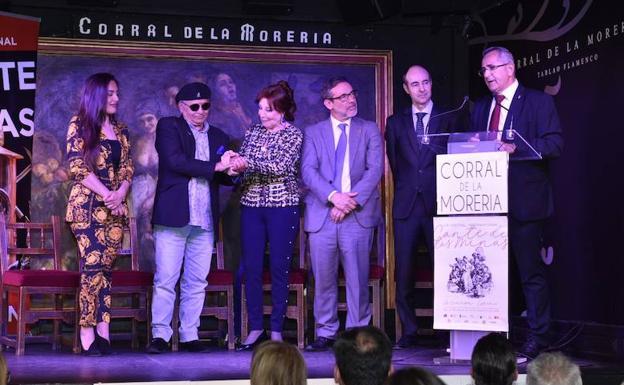 Presentación del LIX Festival Internacional Cante de las Minas, celebrada este lunes en El Corral de la Morería, en Madrid.