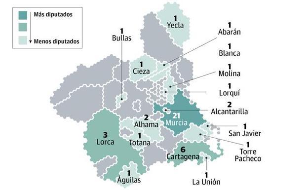Mapa Region De Murcia Elecciones.Elecciones Autonomicas Y Municipales De La Region De Murcia