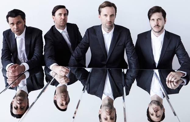 Los componentes de Cut Copy: Tim Hoey, Mitchell Scott, Dan Whitford y Ben Browning.
