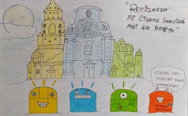 Dibujo de Mario Yelo Abellán, ganador de la categoría de Cuarto a Sexto de Primaria.