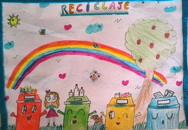 Dibujo de Claudia Muñoz, ganadora de la categoría de Primero a Tercero de Primaria.