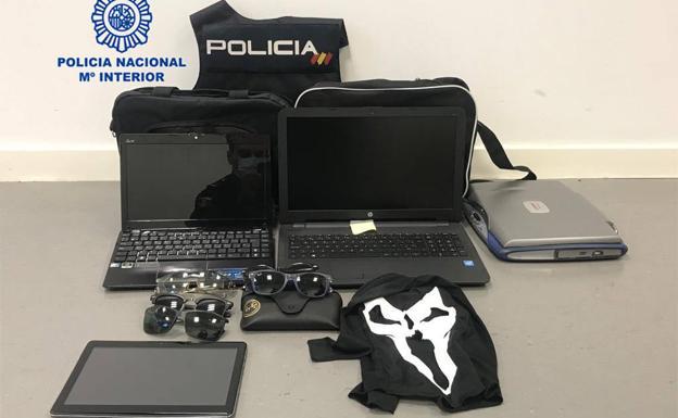 La Policía Nacional detiene a tres personas en Murcia y pedanías por tres intentos de robo en el mismo día.