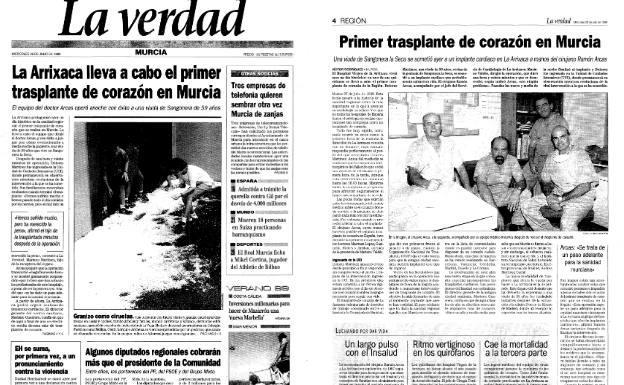 Primer trasplante de corazón en Murcia | La Verdad