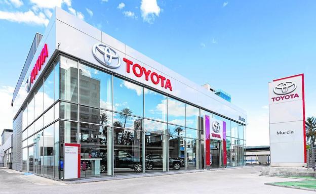 Las modernas instalaciones de Toyota Murcia sitas en la Avenida Primero de Mayo. /G. H.