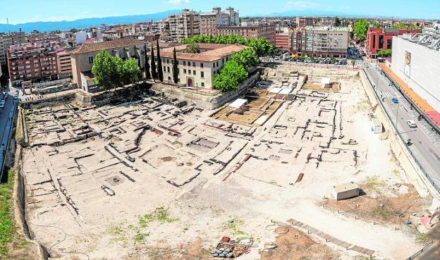 The garden projected on the San Esteban site will prevent this aerial view of the remains.