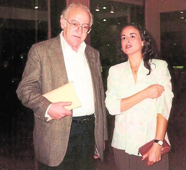Sobejano and Juana J. Marín, in New York in 1995.