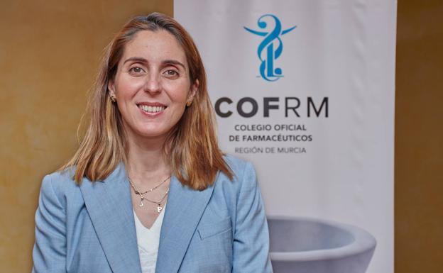 La presidenta del Colegio Oficial de Farmacéuticos de la Región, Paula Payá. /COFRM