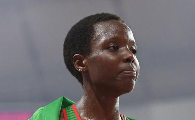 Agnes Tirop, en el Mundial de Doha de 2019.