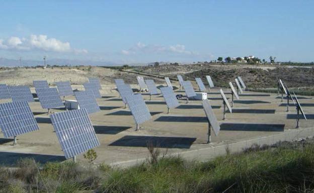 Panales solares de Soltec, en una imagen de archivo.