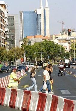 Las Obras Del Tranvía Llegan A La Avenida Ronda De Levante Y A La Plaza Juan Xxiii La Verdad