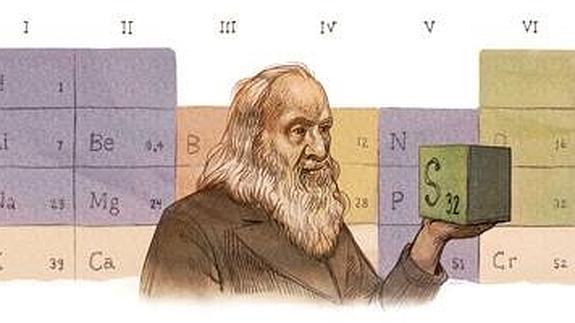 Dmitri mendelyev el creador de la tabla peridica que solo se dmitri mendelyev padre de la tabla peridica en el doodle de google urtaz Choice Image
